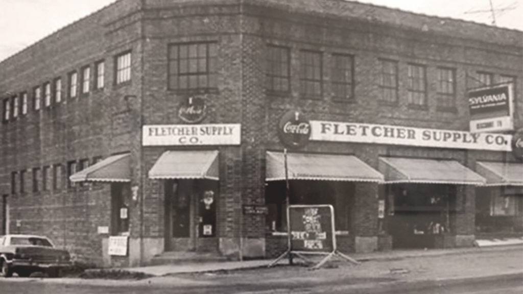 vintage photo of the fletcher supply building