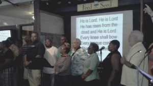 service music at the feed and seed church